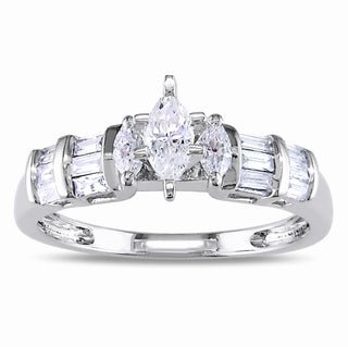 14k Gold 1/2ct TDW Marquise Cut Diamond Engagement Ring (G-H, I1-I2)