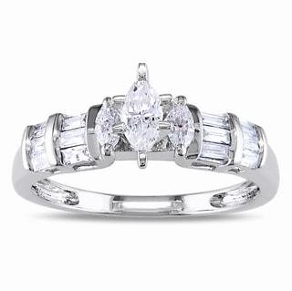 14k Gold 1/2ct TDW Marquise Cut Diamond Engagement Ring (G-H, I1-I2)