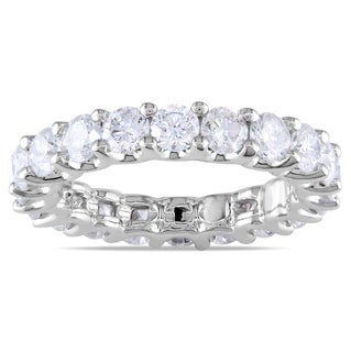 18k White Gold 3ct TDW Diamond Eternity Ring (G-H, SI1-SI2)