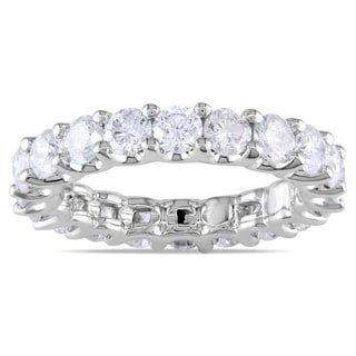 Miadora 18k White Gold 3ct TDW Diamond Eternity Ring (G-H, SI1-SI2)
