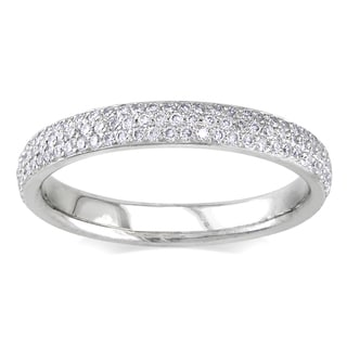 Miadora 14k White Gold 1 1/2ct TDW Diamond Eternity Ring (G-H, SI1-SI2)
