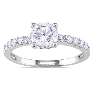 Miadora 14k White Gold 1 1/6ct TDW Diamond Engagement Ring (H-I, SI2)