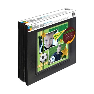 Memory Stor Black Bonded Leather Scrapbook Album