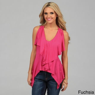Miso Women's Double Ruffle Sleeveless Top