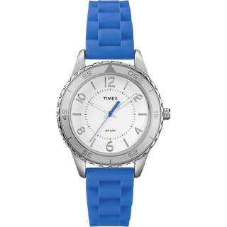 Timex Women's T2P021 Ameritus Sport Brilliant Blue Silicone Strap Watch