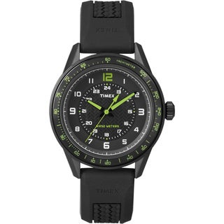 Timex Men's T2P024 Ameritus Sport Black Silicone Strap Watch