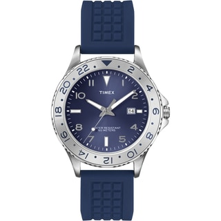 Timex Men's T2P032 Ameritus Sport Blue Sunray Dial Blue Watch