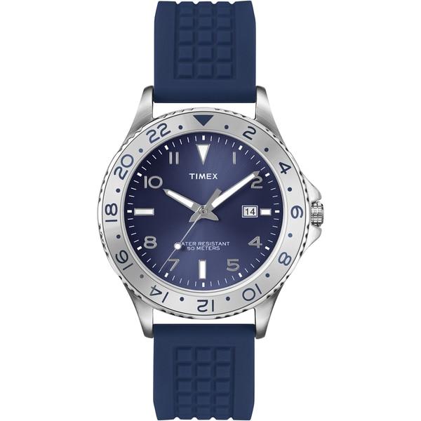 Timex Men's T2P032 Fashion Sport Blue Sunray Dial Blue Watch