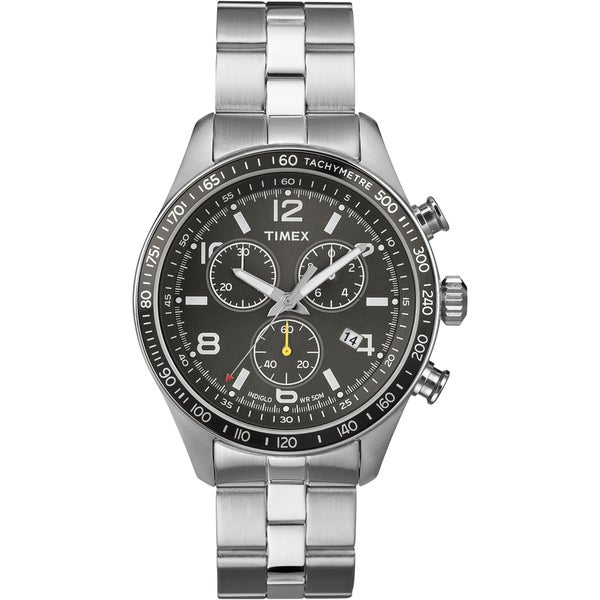 Timex Men's T2P041 Fashion Chronograph Stainless Steel Bracelet Watch