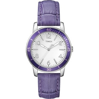 Timex Women's T2P052 Ameritus Sport Petunia Leather Strap Watch