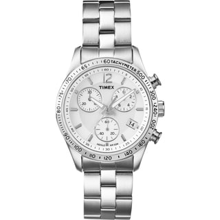 Timex Women's T2P059 Ameritus Chronograph Stainless Steel Bracelet Watch