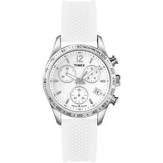 Timex Women's T2P061 Ameritus Chronograph White Watch