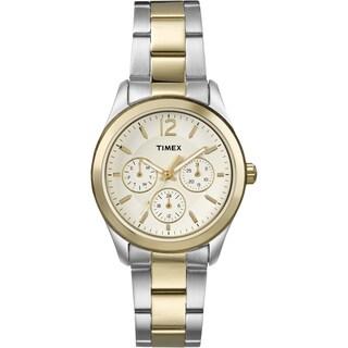 Timex T2P067KW Women's Ameritus Multifunction Two-Tone Stainless Steel Bracelet Watch