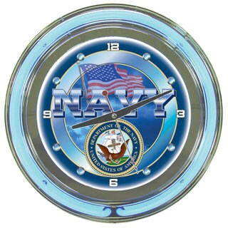 United States Navy Neon Clock