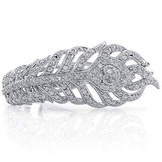 Sterling Silver 1/5ct TDW Diamond Feather Ring (J-K, I2-I3)