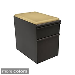 Mobile Storage Box/File Pedestal with Forsythia Seat