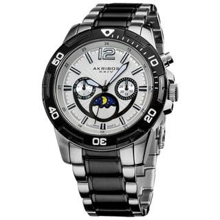 Akribos XXIV Men's Swiss Quartz Divers Multifunction Bracelet Watch