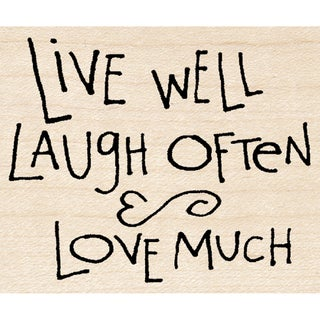 "Inkadinkado Mounted Rubber Stamp M-Dawn Houser Live/Laugh/Love (2"" x 2.5"")"
