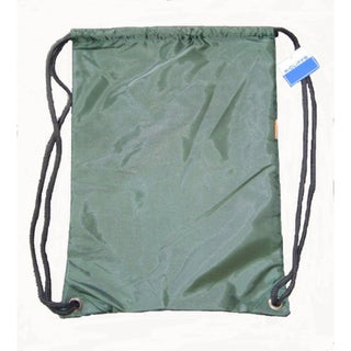 Green Polyester Drawstring Backpacks (Case of 100)