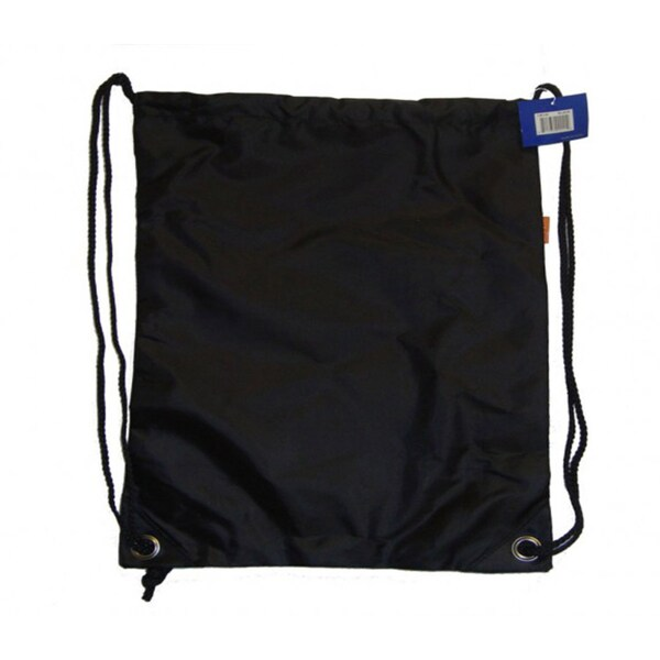 Black Polyester Drawstring Backpacks (Case of 100)