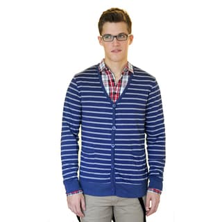 Something Strong Men's Slim Fit Striped Cardigan