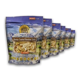 Grizzly Ridge Honey Coated Banana Slices (Pack of 6)