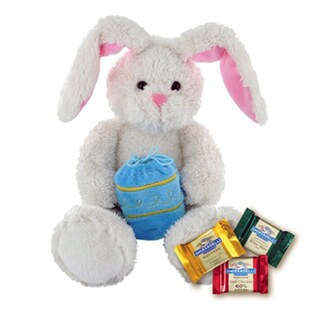 Ghirardelli Fluffy Bunny with Chocolate Squares