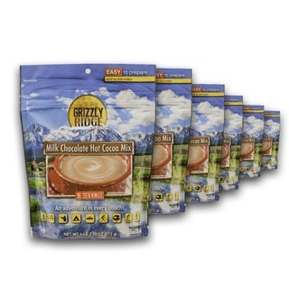 Grizzly Ridge Milk Chocolate Hot Cocoa Mix (Pack of 6)