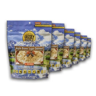 Grizzly Ridge Maple and Brown Sugar Oatmeal (Pack of 6)