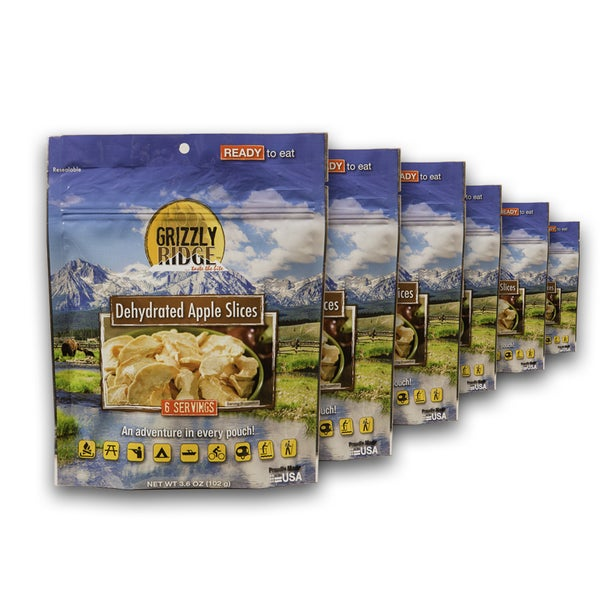 Grizzly Ridge Dehydrated Apple Slices (Pack of 6)