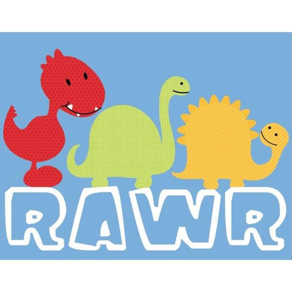 'Dino Rawr' Print Art