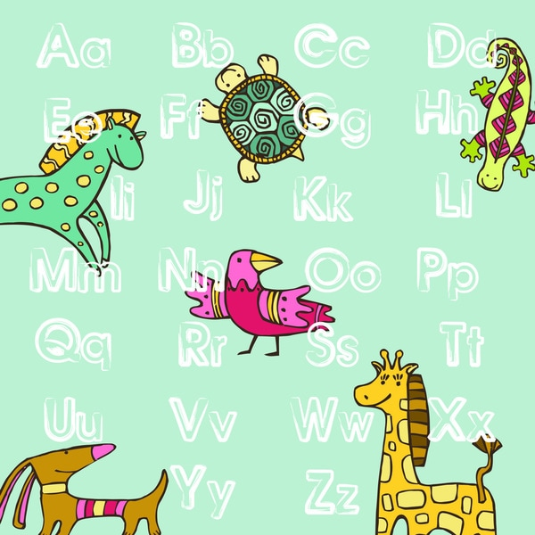 'Animal ABC' Print Art