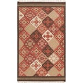 Hand-woven Cajamarca Red Wool Rug (5' x 8')