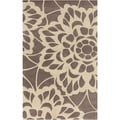 Hand-tufted Chancay Floral Brown Wool Rug (8' x 11')