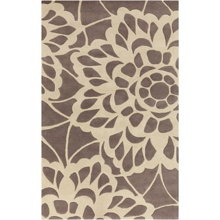 Hand-tufted Transitional Chancay Floral Brown Wool Rug (3'3 x 5'3)