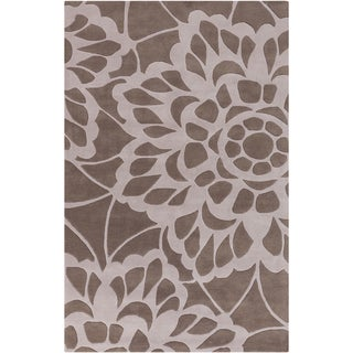Hand-tufted Transitional Chepen Floral Grey Wool Rug (3'3 x 5'3)
