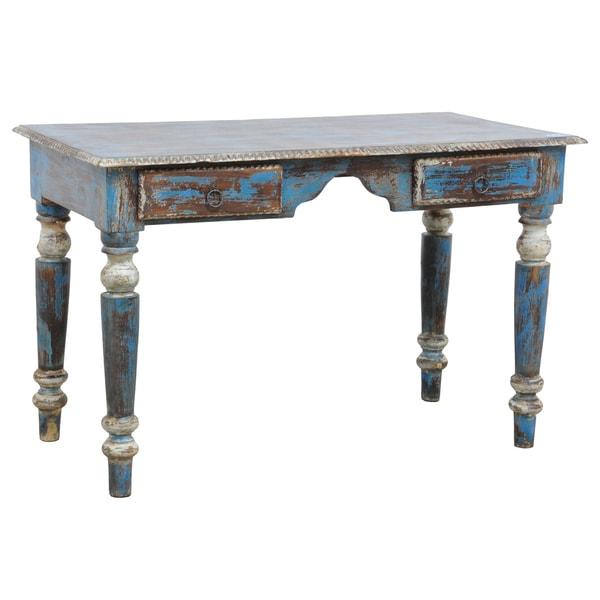 Kosas Home Poli Desk -Blue