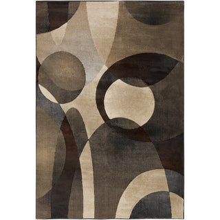 Woven Contemporary Imperial Brown Geometric Rug (6'7 x 9'6)