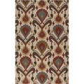 Hand-tufted Warm Ikat Parchment Wool Rug (5' x 8')