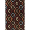 Hand-tufted Ikat Diamond Nomad Brown Rug (2' x 3')