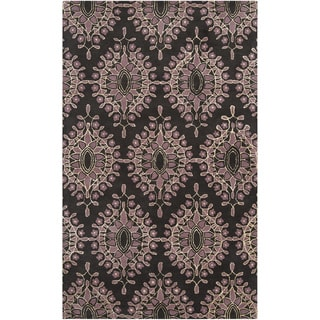 Bob Mackie Hand-tufted Damask Floral Wool Rug (9' x 13')
