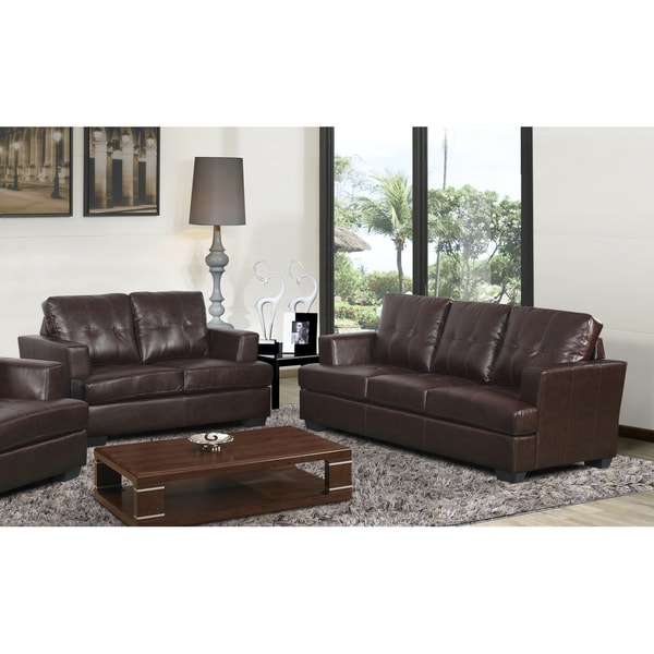 Nova Brown Living Room Set Overstock