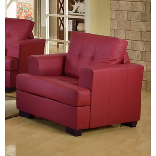 Nova Red Bonded Leather Chair
