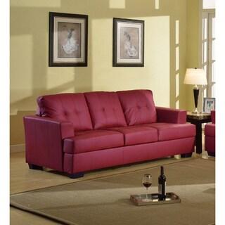 Nova Red Bonded Leather Sofa