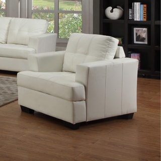Nova White Bonded Leather Chair