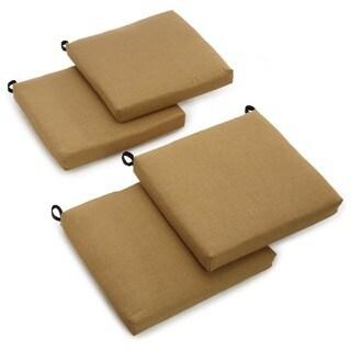 "Blazing Needles Indoor/Outdoor Chair Cushion (Set of 4) - 20""x19"""