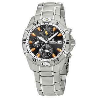 Festina Men's Estuche Steel Black/ Orange Watch