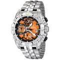 Festina Men's Orange/ Silvertone Steel Quartz Watch
