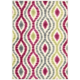 Waverly Aura Flora Ikat Jazzberry Rug (5'3 x 7'5)