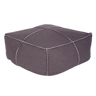 Tucker Sepia Grey Square Poof Ottoman